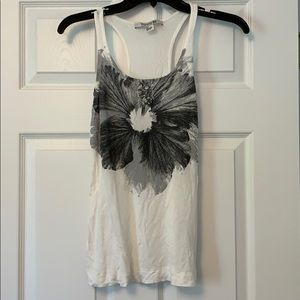 Forever21. Off white and gray printed tank. Size S